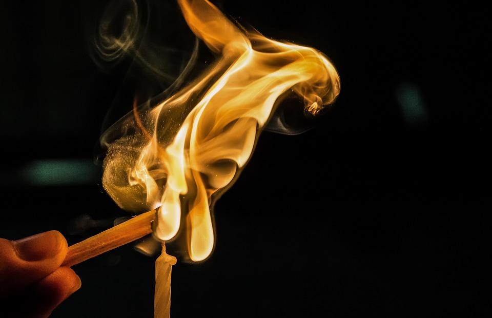 Fire, Ignition, Burn, Flame, Lighter, Match, Sticks