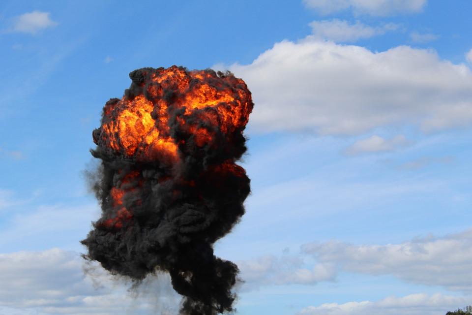 Blast, Flame, Fire, Explosion, Smoke, Fiery, Burn