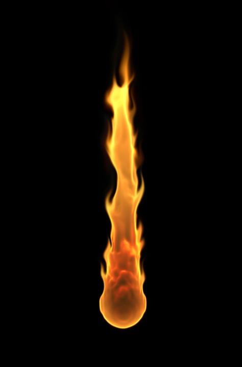 Flame, Fire, Meteorite, Fiery, Burning, Burn, Light