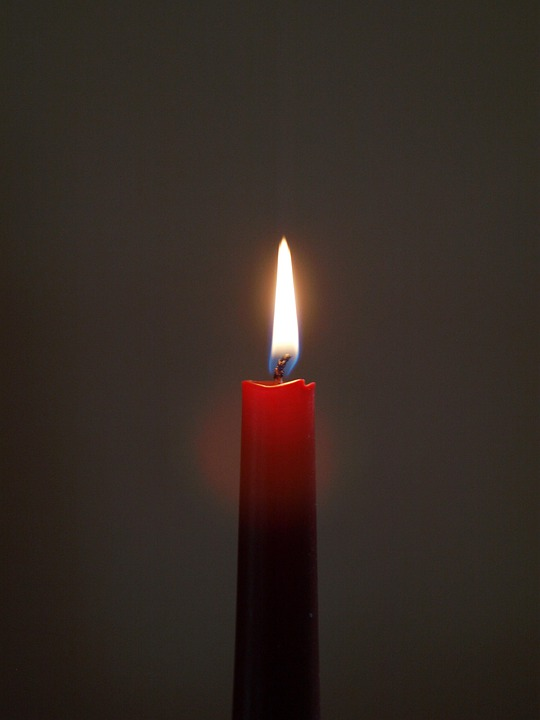 Candle, Wick, Red, Quiet, Burn, Light, Atmosphere