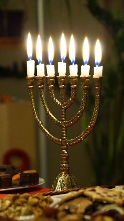 Menorah, Candles, Light, Burning, Religious, Bible