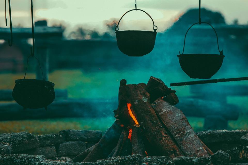 Campfire, Burning, Camping, Close-up, Cooking