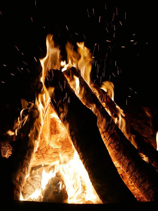 Campfire, Fire, Embers, Flame, Glowing, Burning