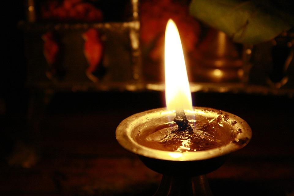 Oil Lamp, Hindu, Prayer, Candlelight, Burning, Flame