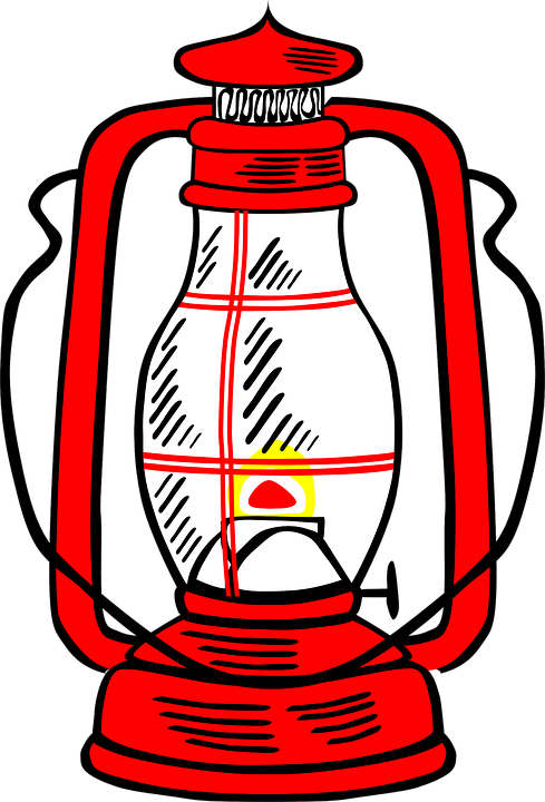 Oil Lamp, Lantern, Red, Retro, Flame, Light, Burning