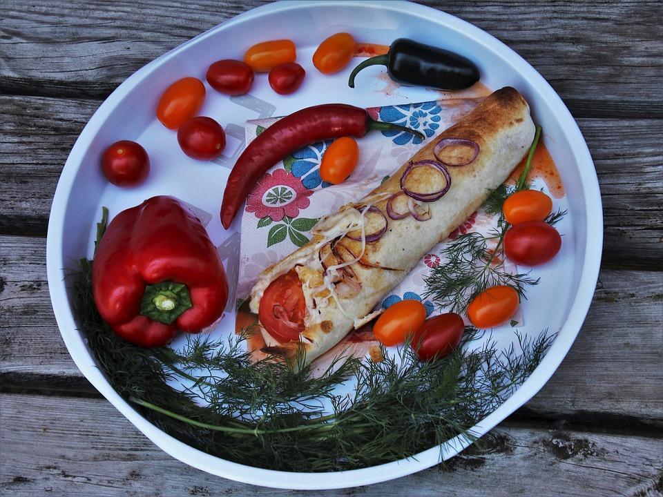 Eating, Paprika, Sharp, Chili, Pepperoni, Burrito, Dill