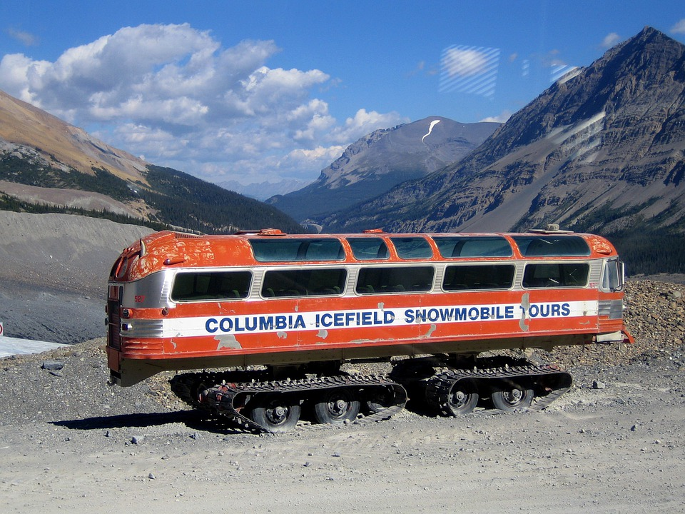 Columbia Icefield, Snowmobile, Bus, Transportation