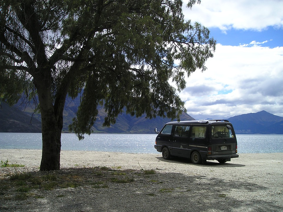 New Zealand, South Island, Lake, Vw, Bus, Travel