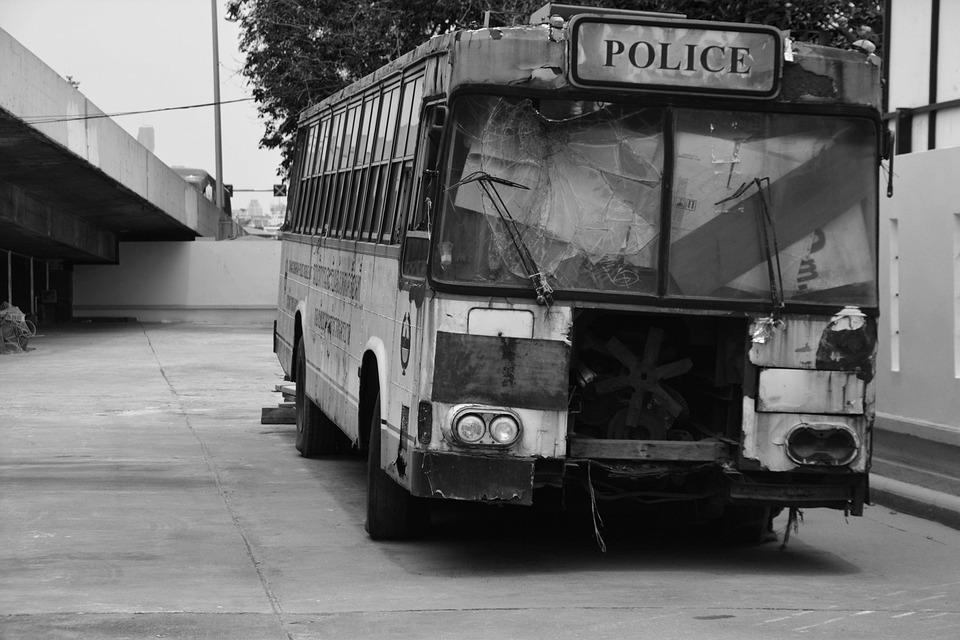 Bus, Wreck, Junk, Transportation, Broken, Vehicle, Rust