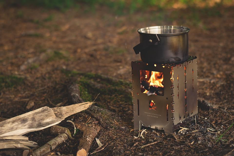 Fireplace, Fire, Bushbox, Camping, Burn, Flame