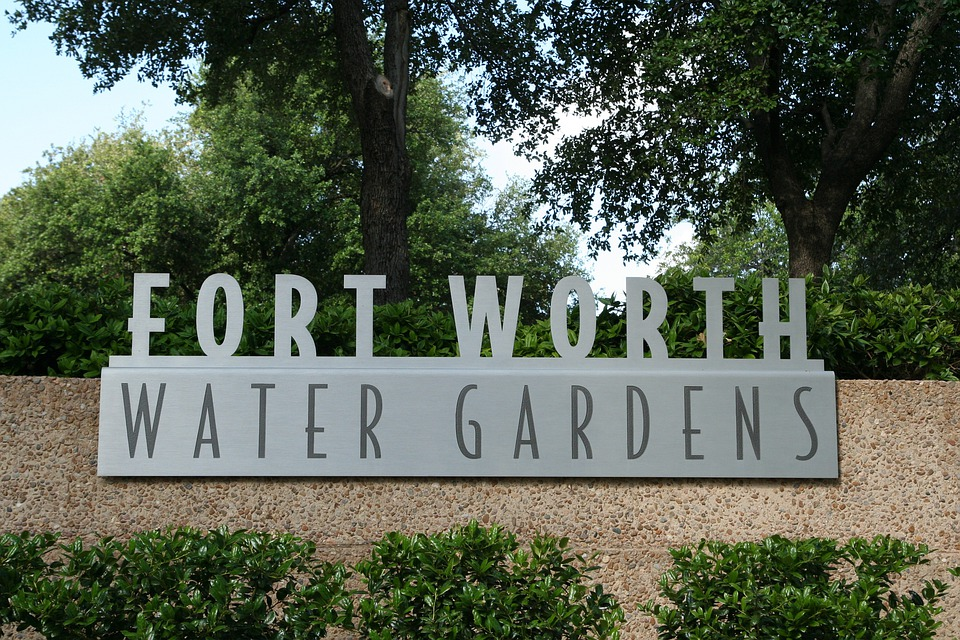 Water Gardens, Fort Worth, Trees, Bushes, Foliage