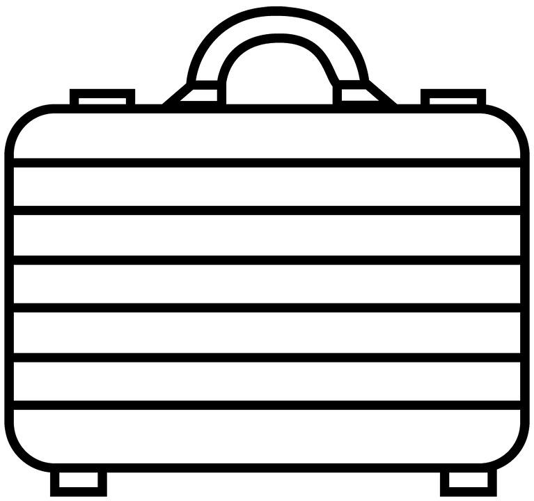 Attache Case, Bag, Business, Gray, An Office Worker