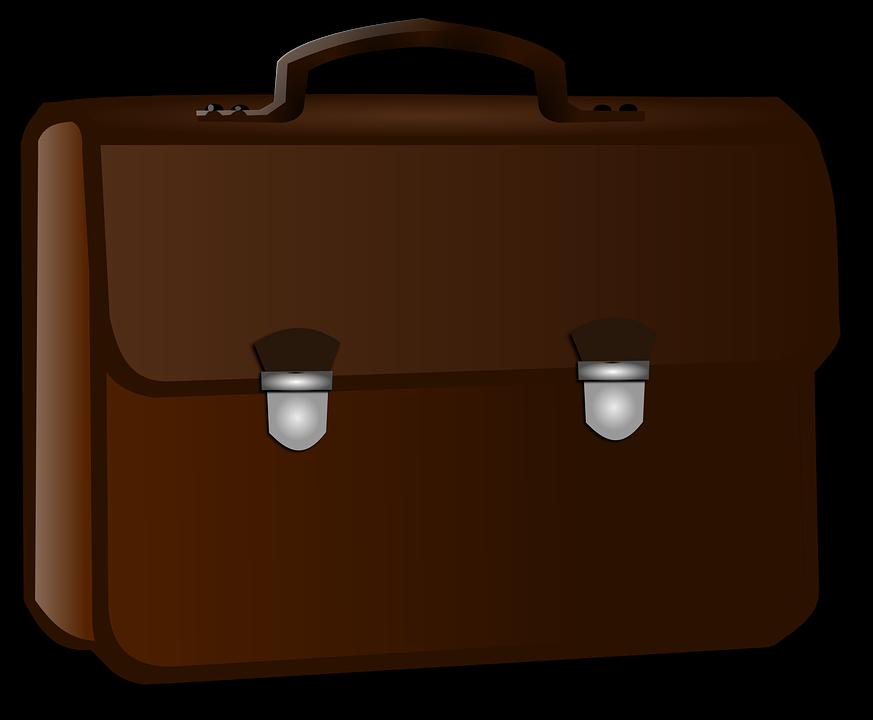 Briefcase, Business, Brown