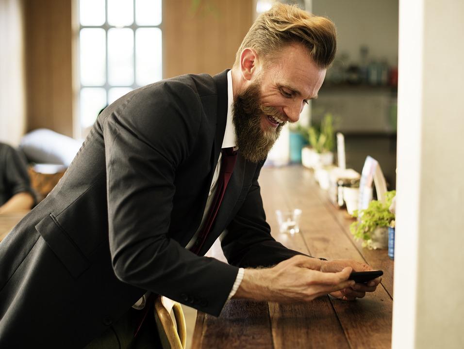 Beard, Break, Business, Cafe, Corporate, Leisure, Man