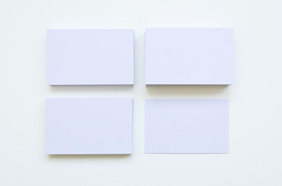 Free photo Business Cards Blank Paper Show White Empty - Max Pixel