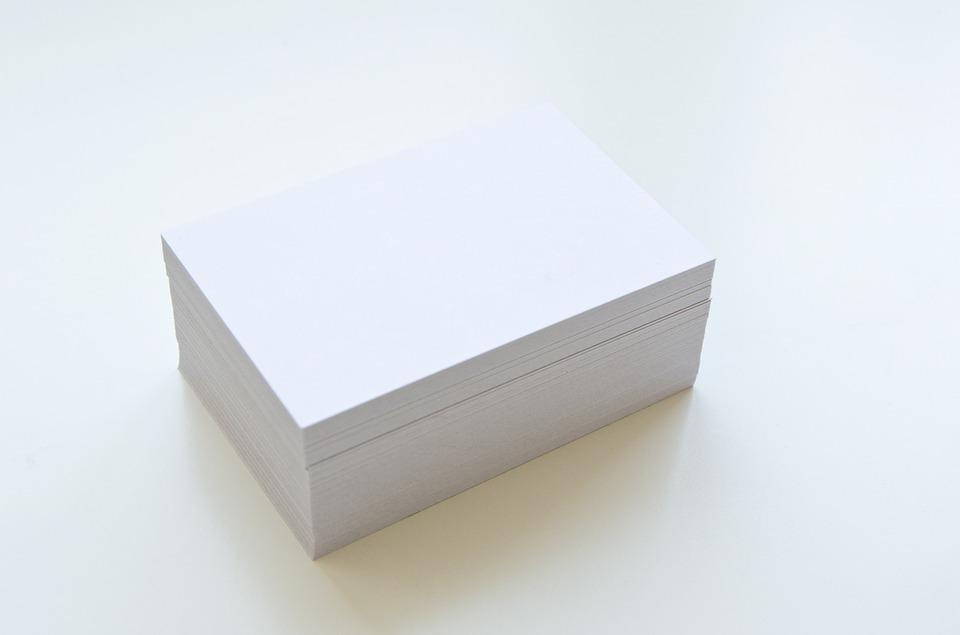 Free photo Business Cards Show Paper Blank Empty White - Max Pixel