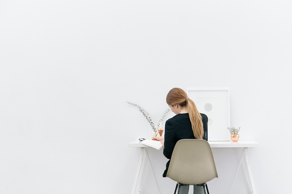 Girl, Woman, Working, Office, Business, Creative