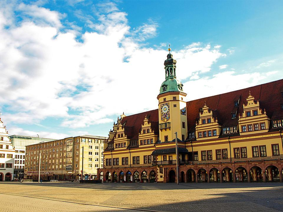 Leipzig, Market, Town Hall, Business