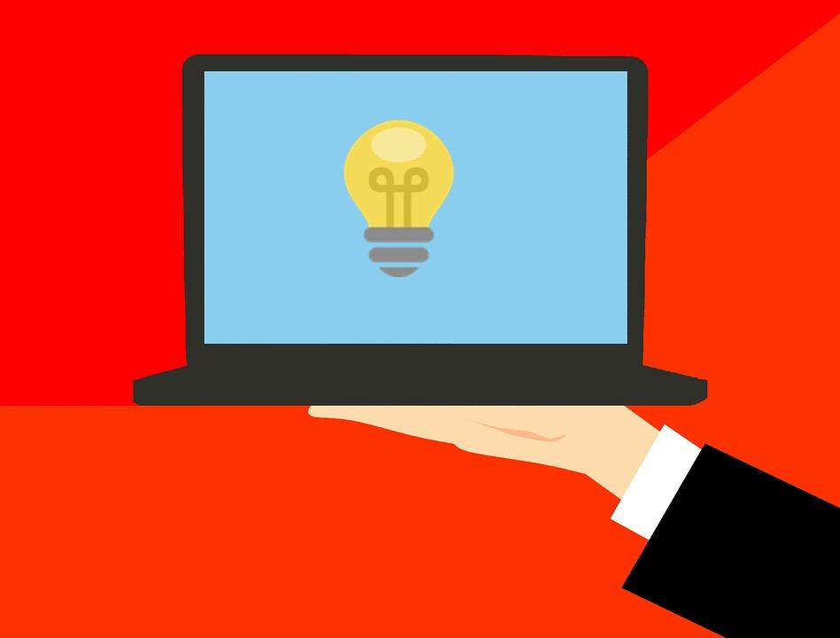 Idea, Laptop, Business, Hand, Man, Notebook, Technology