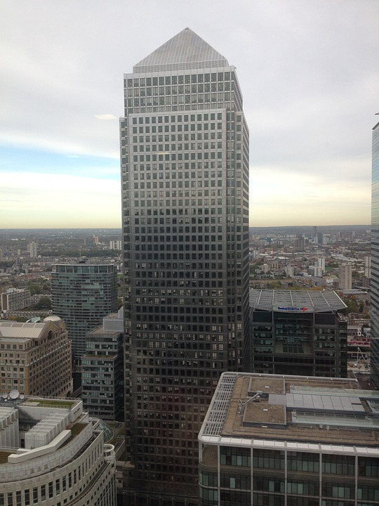 Canary, Wharf, Banking, Building, Business, City