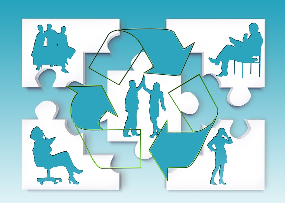 Team, Silhouettes, Teamwork, Personal, Businessmen
