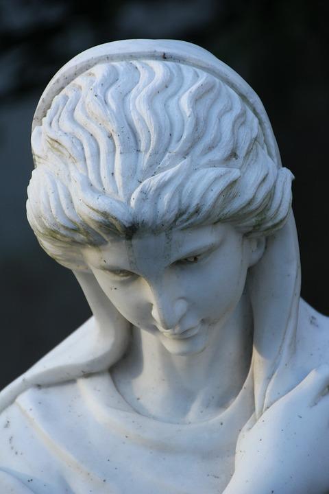 Tomb Figure, Abbey Marie, Head, Bust