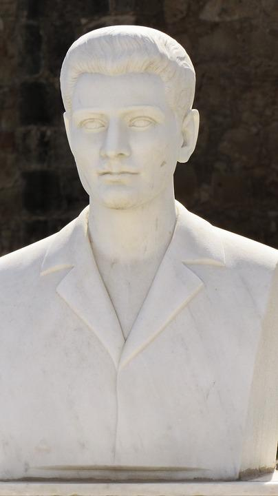 Bust, Man, Sculpture, Statue, Cyprus, Ayia Napa