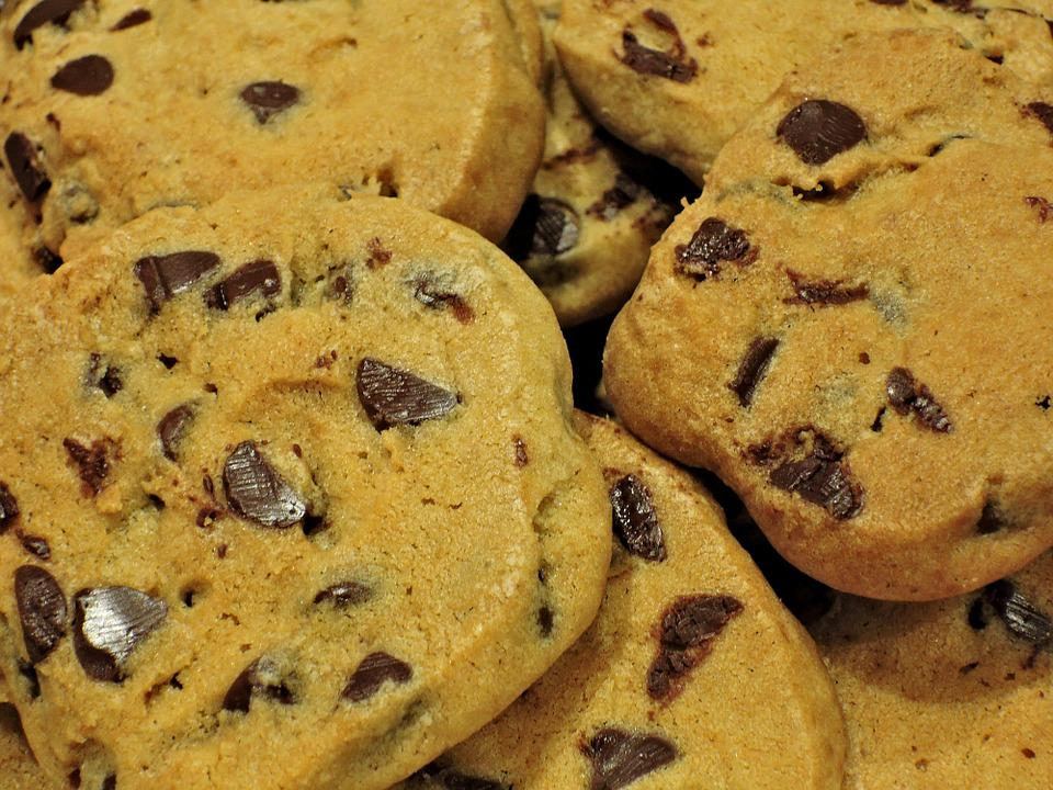 Chocolate Chip Cookies, Butter, Eggs, Sugar, Sweet Food