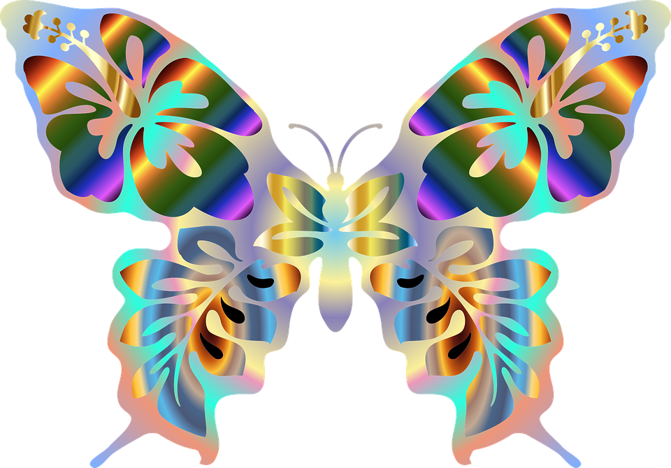 Abstract, Animal, Art, Butterfly, Colorful, Prismatic