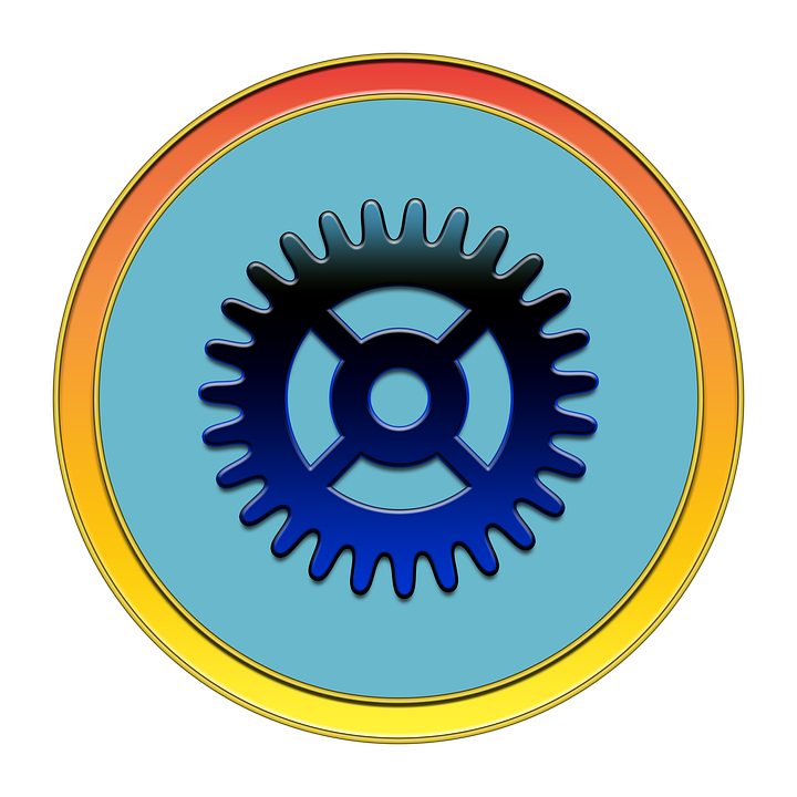 Gear, Settings, Icon, Button, Media, Gear Icon