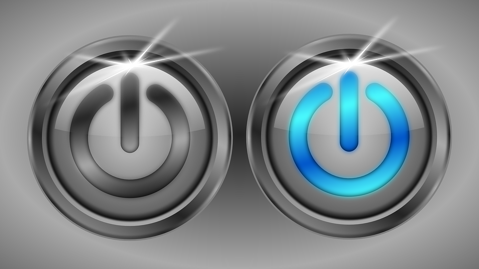 Button, On, Off, Power, Engage, Energy, Gray Energy