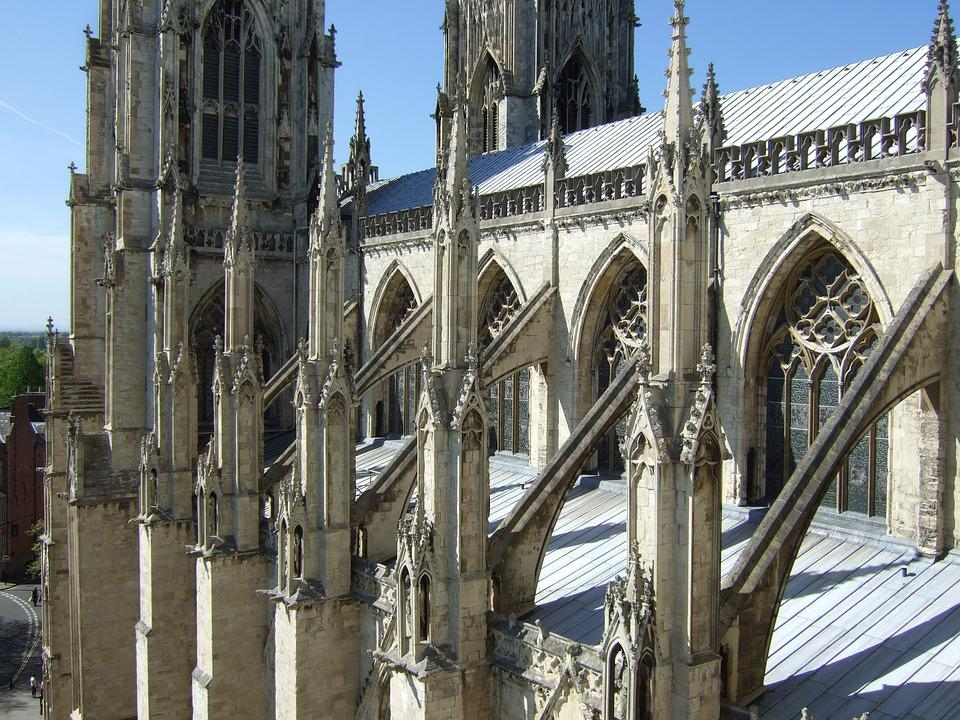 Cathedral Buttresses Flying Gothic
