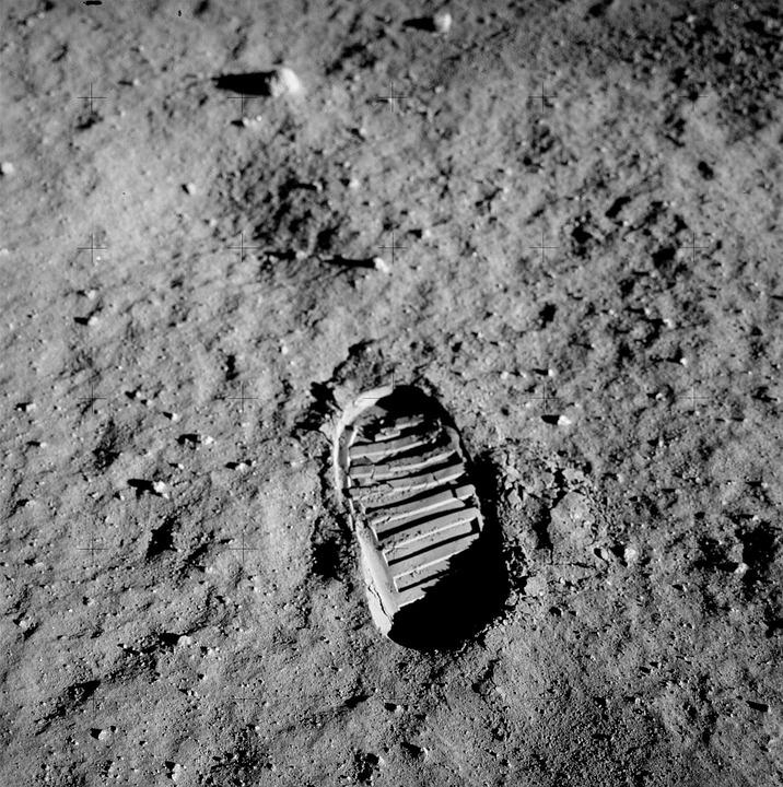 Footprint, Apollo 11, Buzz Aldrin, Lunar Surface, Trace