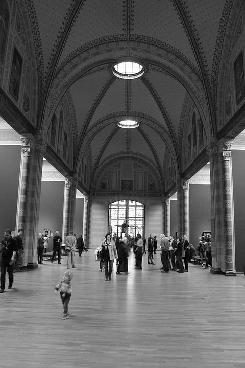 Rijksmuseum, Amsterdam, Black White, Bw, Museum