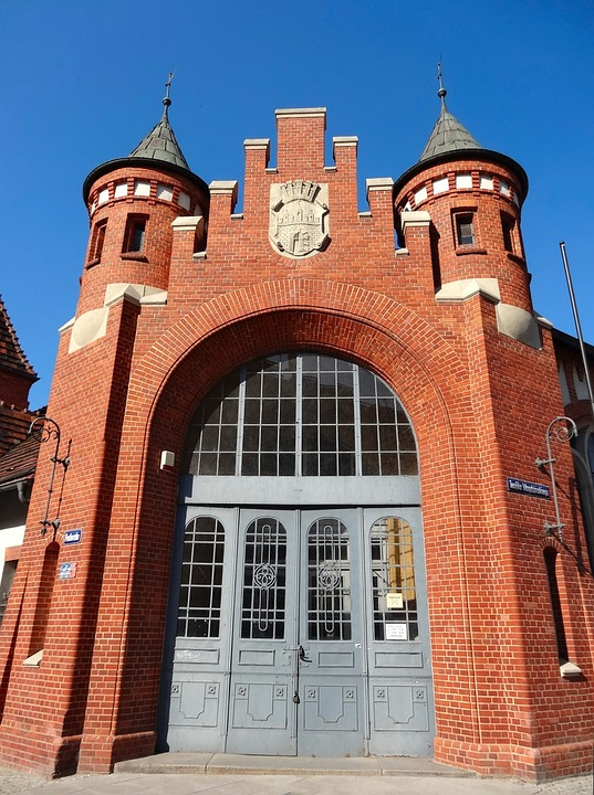 Market Hall, Bydgoszcz, Historic, Door, Building, Gate
