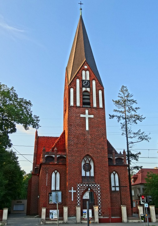 Divine Mercy Church, Bydgoszcz, Tower, Poland, Building