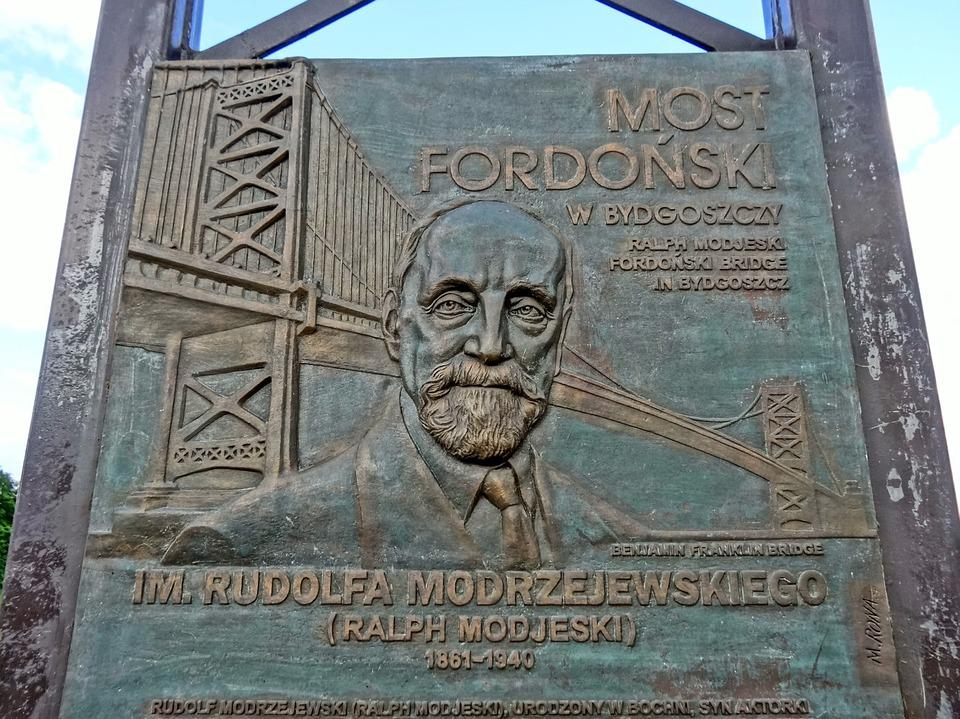 Most Fordonski, Bydgoszczy, Bridge, Plaque, Crossing