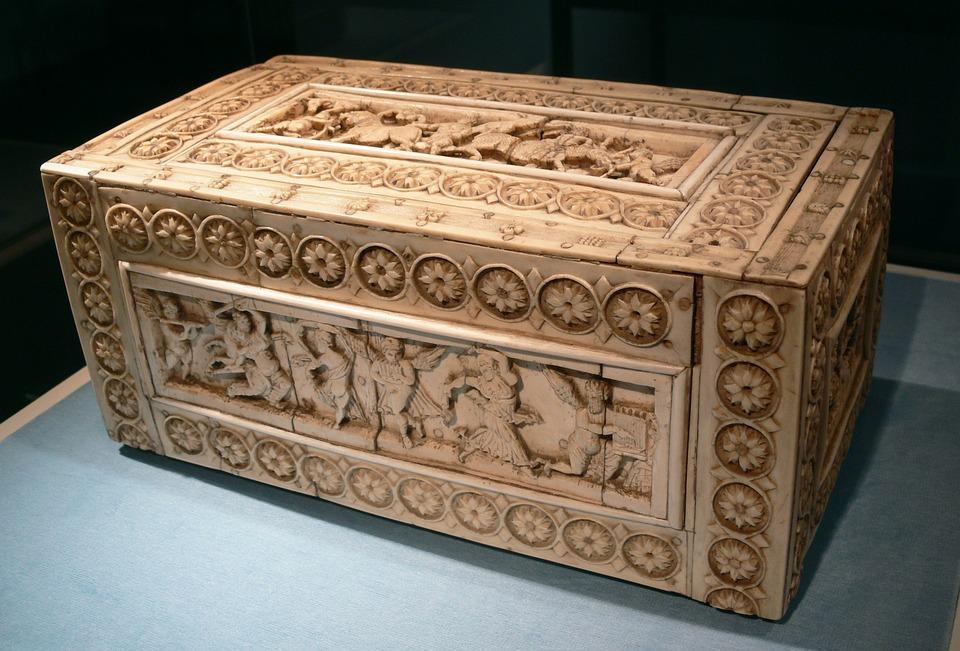 Chest, Casket, Byzantine, Ivory Casket, Ivory