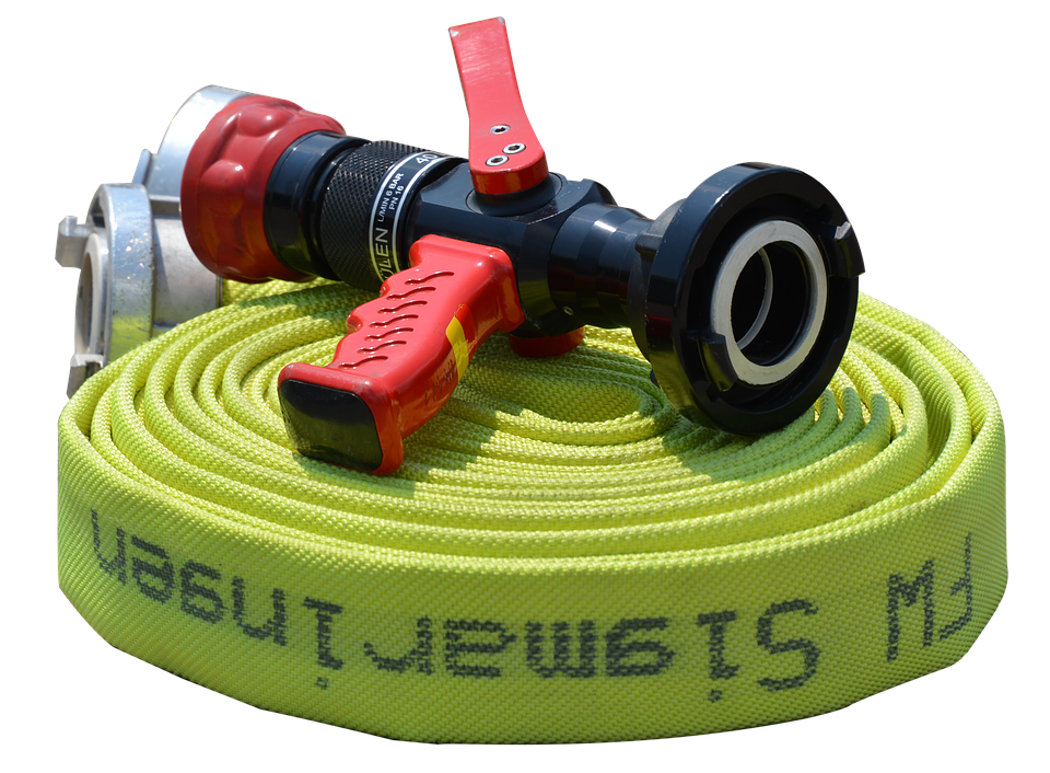 Fire Hose, C-hose, Isolated, C-beam Tube