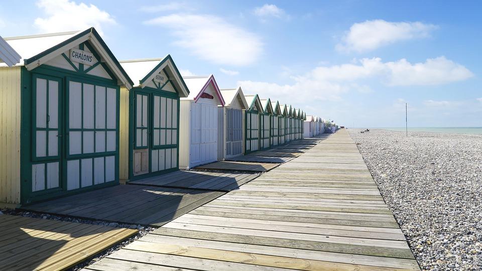 Cabin, Beach, Sea