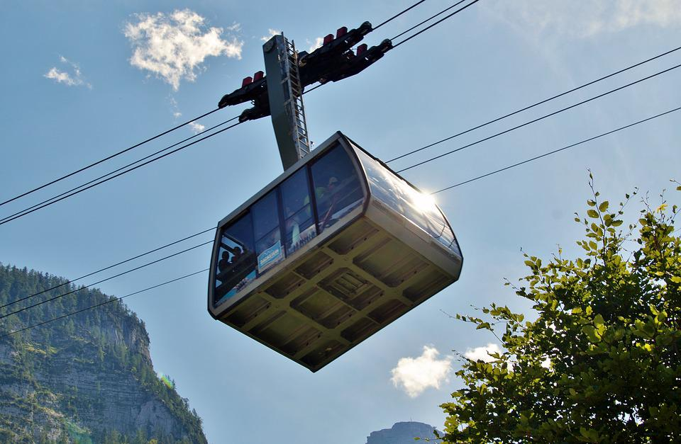 Cableway, Cabin, Mountain, Summer, Exit, Travel