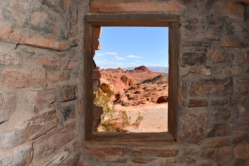 Cabins At Valley Of Fire, Window View Out