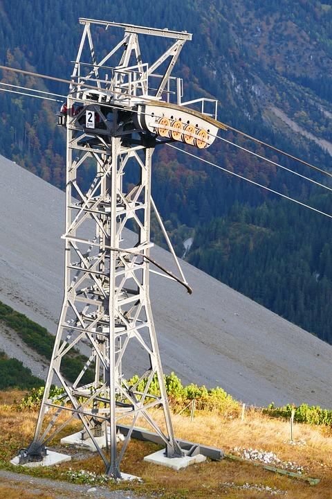 Mast, Seilbahn Mast, Cable Car, Gondola, Masts, Cable