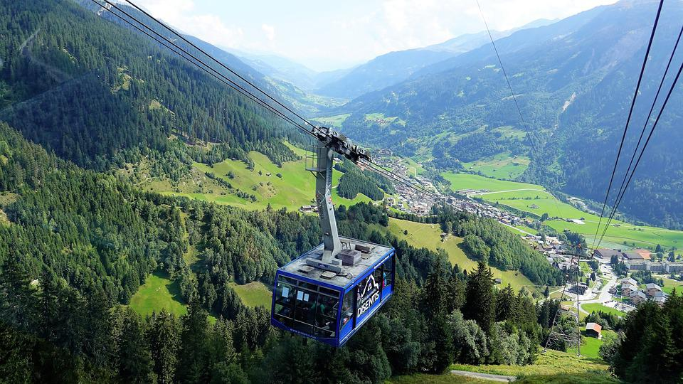 Cable Car, Switzerland, Mountains, Landscape, Surselva