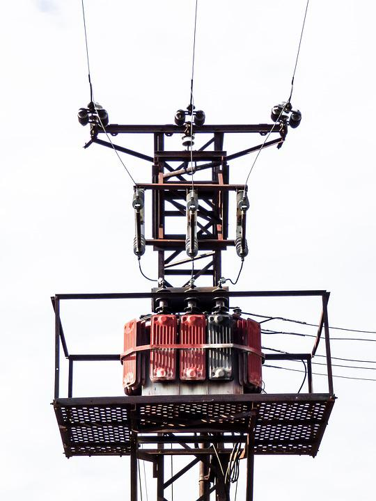 Current, Cable, Lamp Post, Pylon, Tension, Buildup