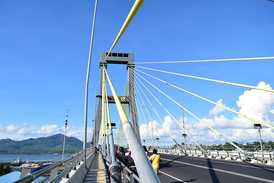 Blue Sky, Manado, Cable-stayed Bridge