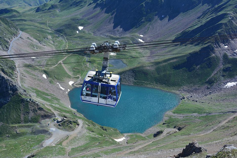 Cable Car, Pyrénées, South Peak, Cabin, Cables