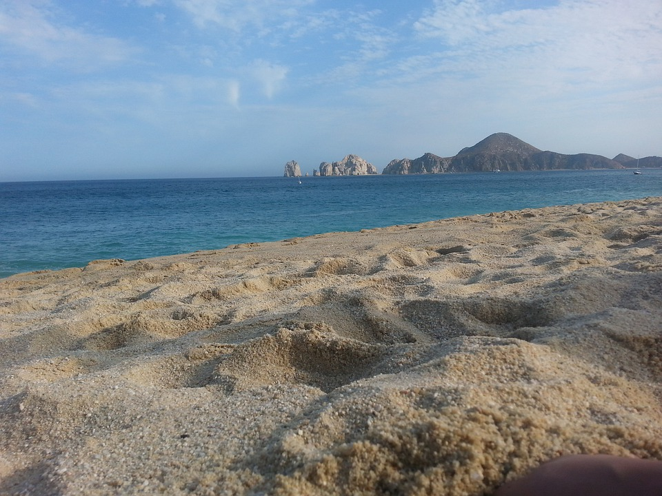 Sand, Cabo, Arch, Mexico, Beach, View