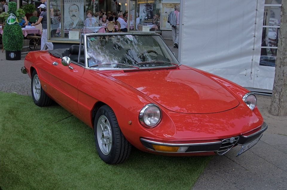 Auto, Alfa Romeo, Spider, Cabriolet, Oldtimer, Vehicle