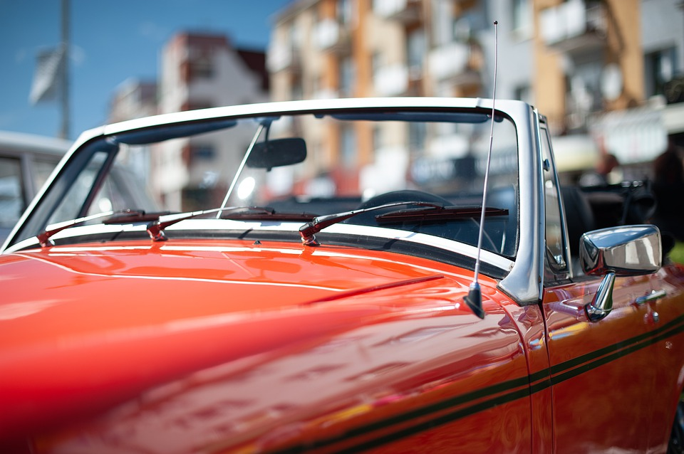 Red, Cabrio, Cabriolet, Car, Mg, Auto, Vintage, Vehicle